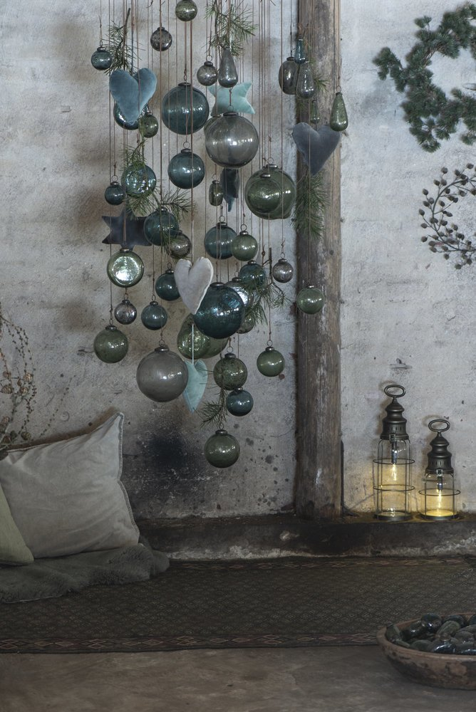 Impressionen zu Ib Laursen Weihnachtskugel Glas pebbled, Bild 4