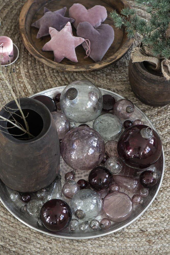 Impressionen zu Ib Laursen Weihnachtskugel Glas pebbled, Bild 5