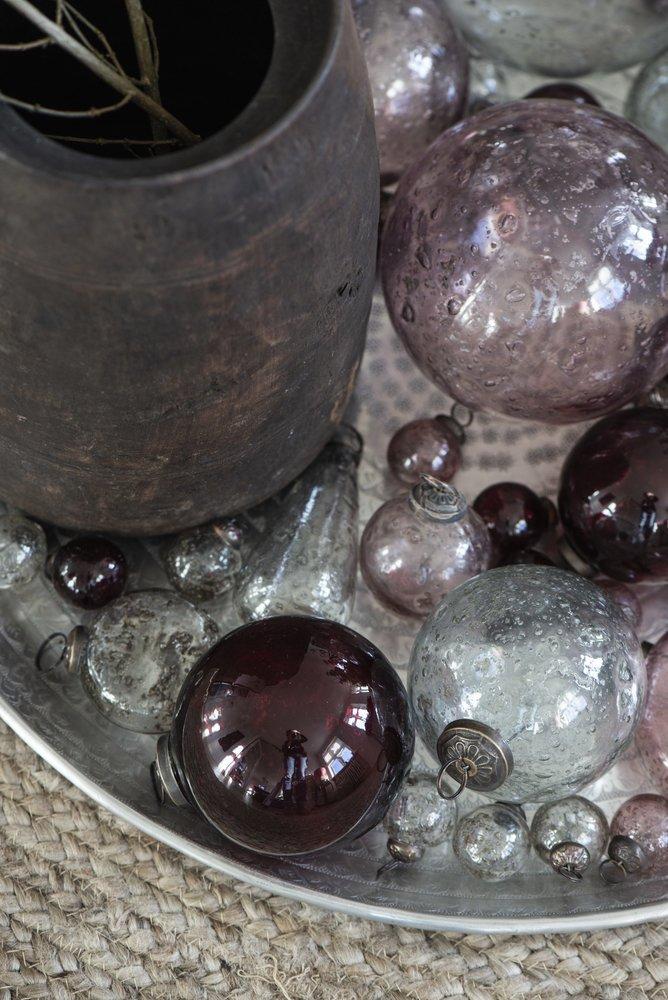 Impressionen zu Ib Laursen Weihnachtskugel Glas pebbled, Bild 9