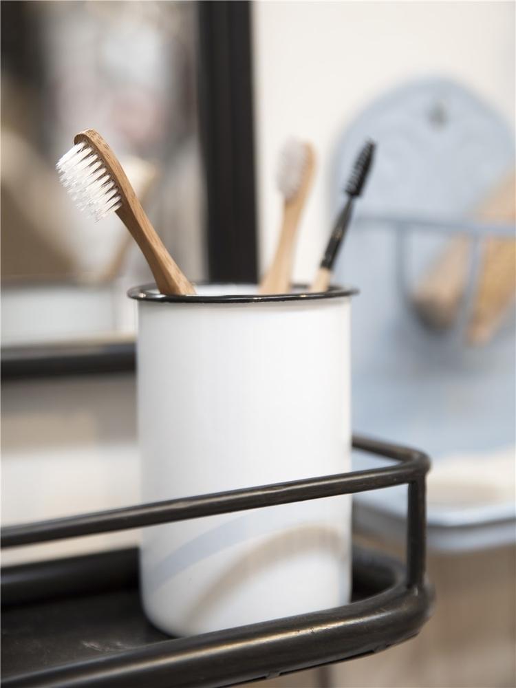 Impressionen zu Ib Laursen Zahnputzbecher Emaille, Bild 1