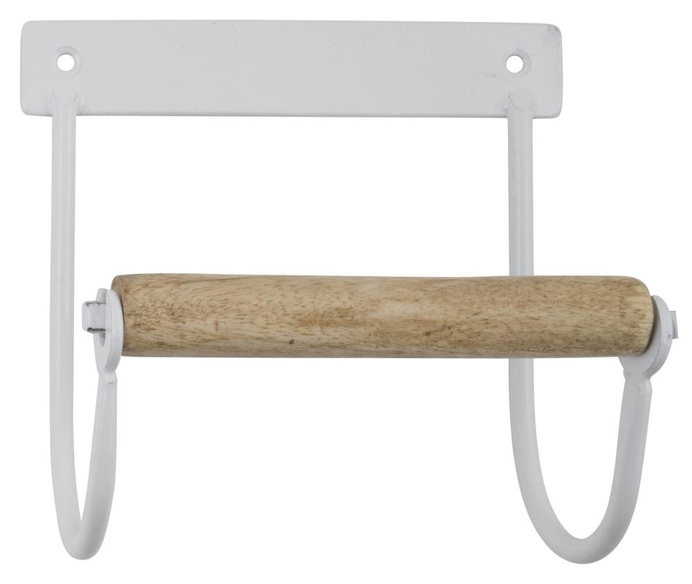 Ib Laursen IB Toilettenpapierhalter aus Metall mit Holzrolle