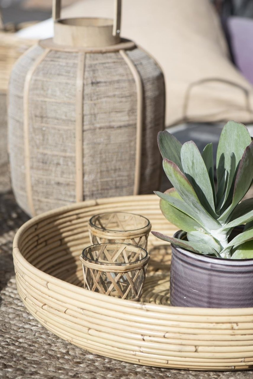 Impressionen zu Ib Laursen Kerzenhalter für Teelicht mit Bambusgeflecht, Bild 2