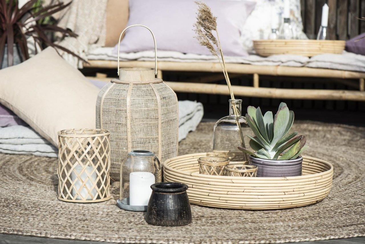 Impressionen zu Ib Laursen Kerzenhalter für Teelicht mit Bambusgeflecht, Bild 3