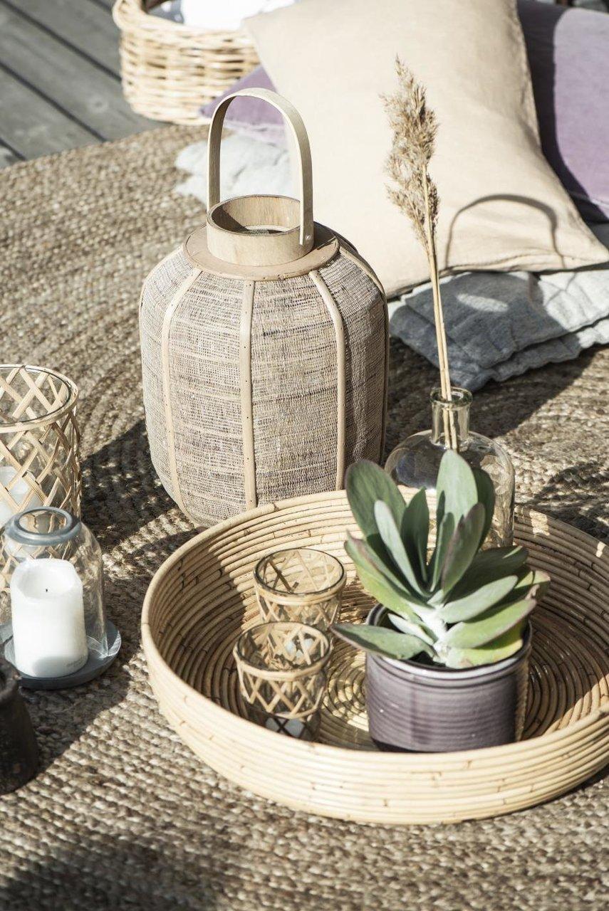 Impressionen zu Ib Laursen Kerzenhalter für Teelicht mit Bambusgeflecht, Bild 4