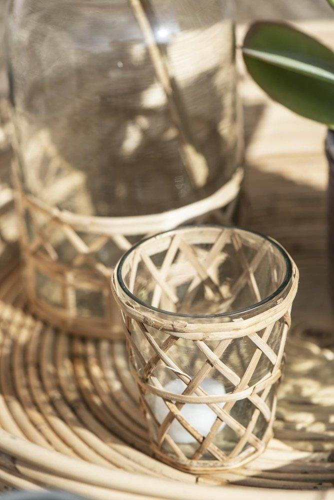Impressionen zu Ib Laursen Kerzenhalter für Teelicht mit Bambusgeflecht, Bild 1