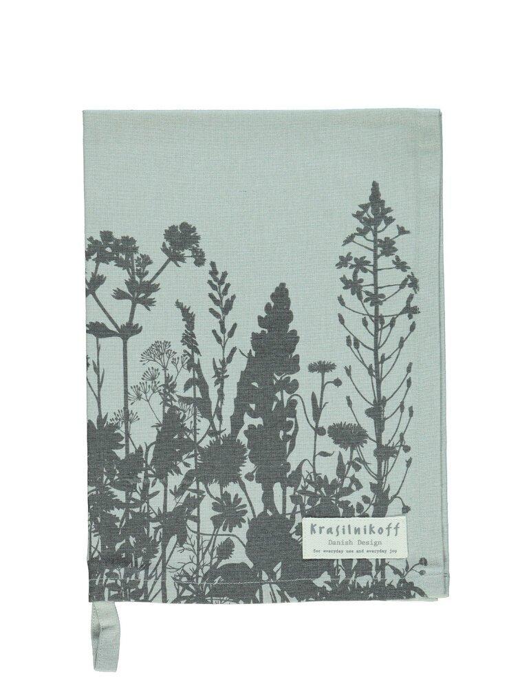 Krasilnikoff Geschirrhandtuch Flowerbed aus Baumwolle