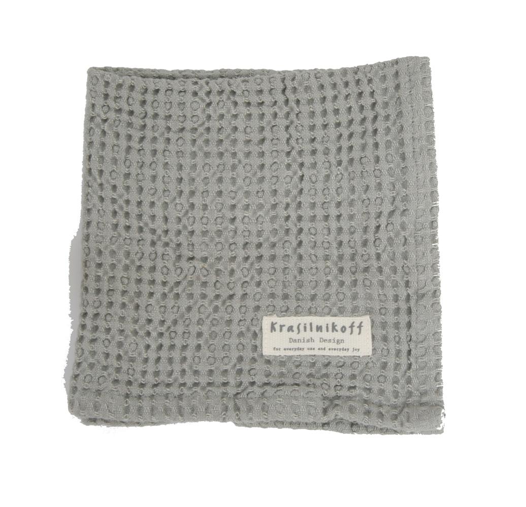 Krasilnikoff Kleines Handtuch mit Waffelstruktur