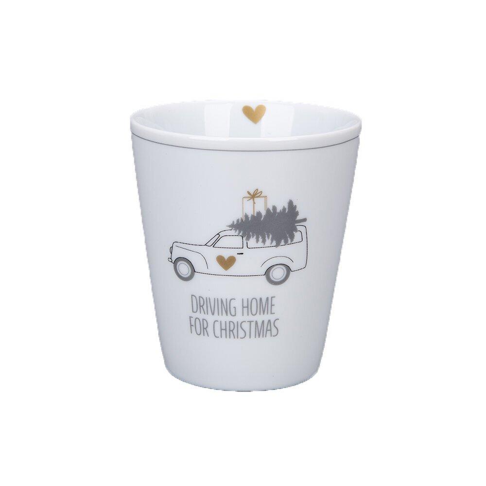 Krasilnikoff Becher Happy Mug Driving Home for Christmas