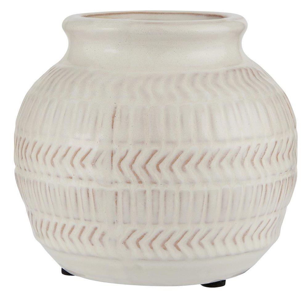 Ib Laursen Kugel Vase mit Muster