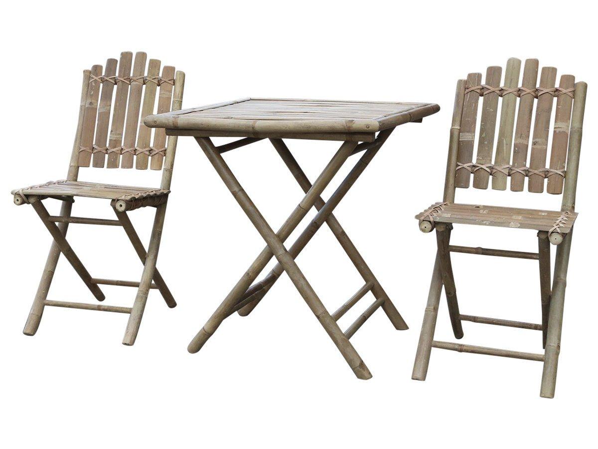 Chic Antique Lyon Garten Möbel Set Tisch & 2 Stühle