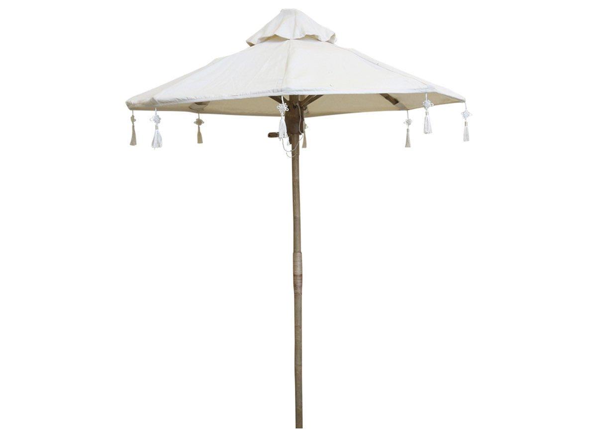 Chic Antique Lyon Sonnenschirm mit Leinen Bambus