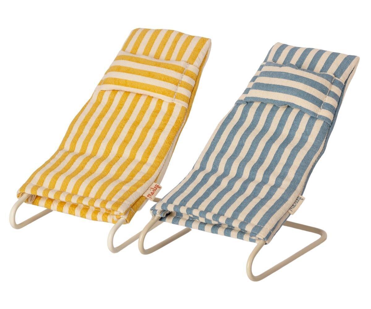 Maileg 2er Set Sonnenliege Liegestuhl für Maus