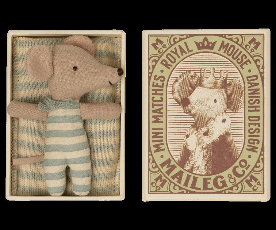 Maileg Baby-Maus in Streichholzschachtel