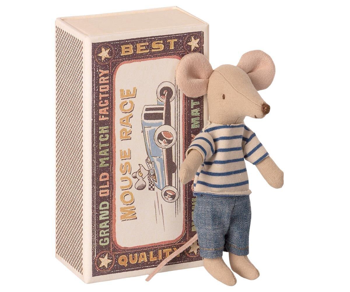 Maileg Big brother Maus in Streichholzschachtel