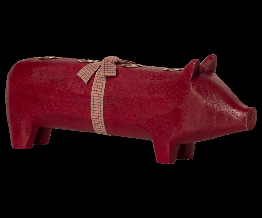 Maileg Kerzenhalter für 4 Kerzen Schwein