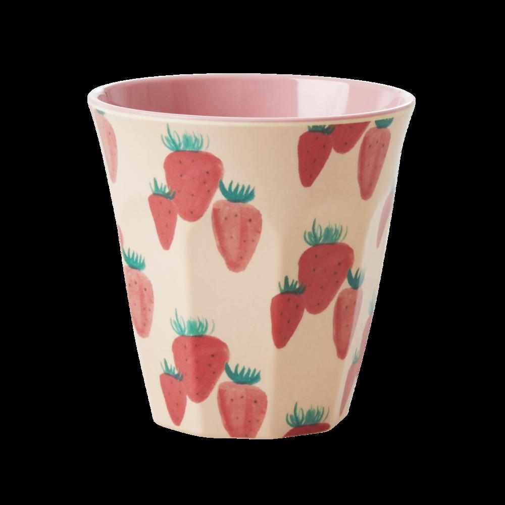 RICE Melamin Becher Erdbeere