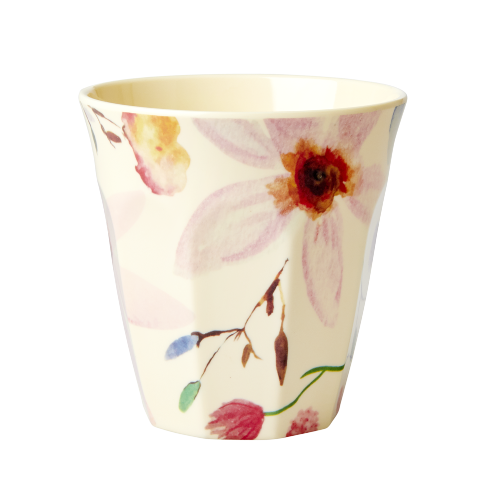 RICE Melamin Becher Medium Selmas Flower Print