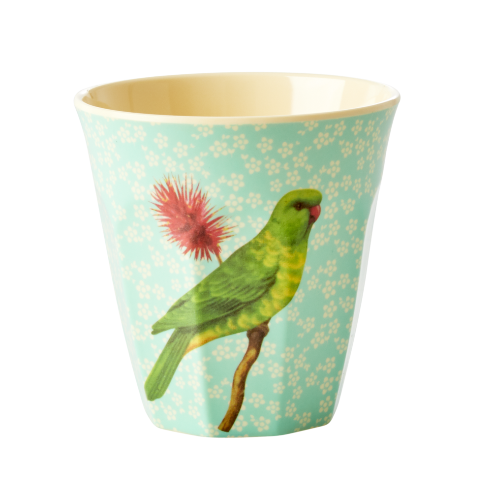 RICE Melamin Becher Medium Vintage Bird