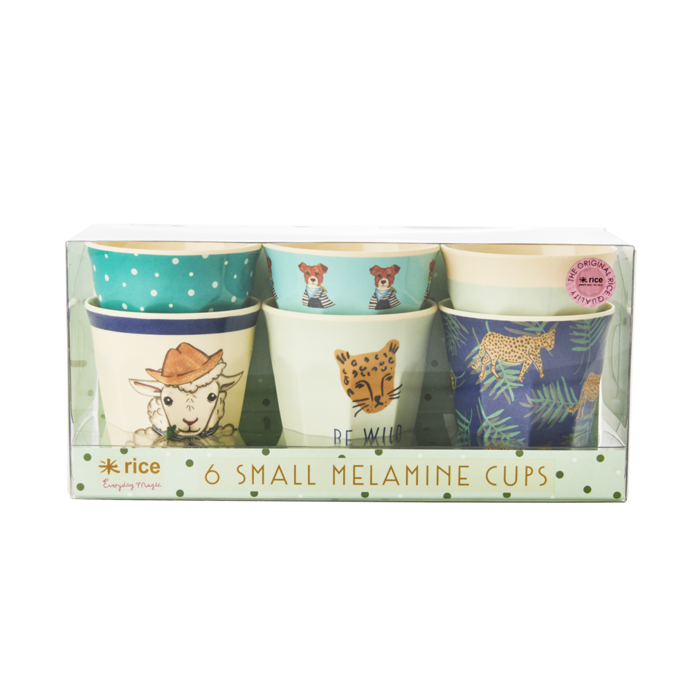 RICE Melamin Kinderbecher Set Farm Animals