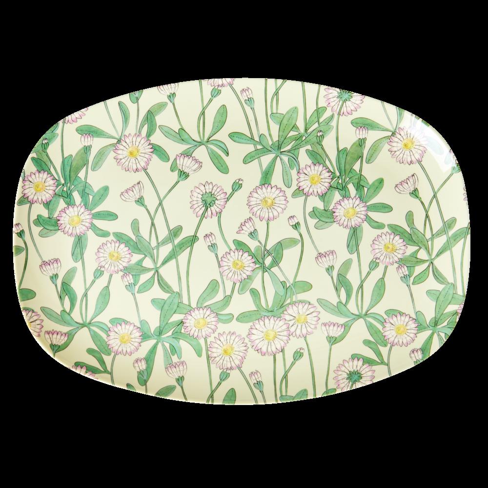 RICE Melamin Plate Tablett Daisy