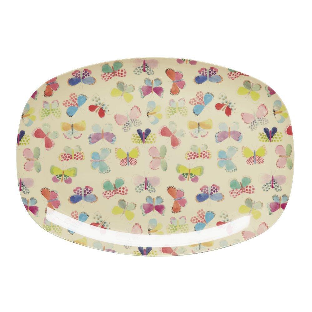 RICE Melamin Tablett Plate Butterfly