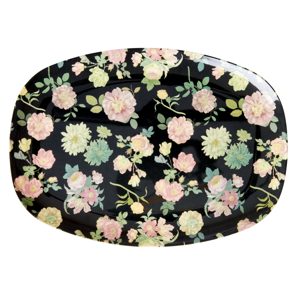 RICE Melamin Tablett Plate Dark Rose