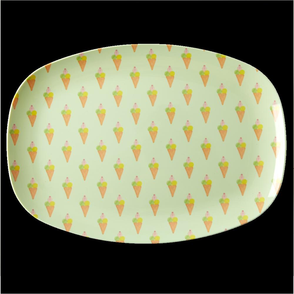 RICE Melamin Tablett Plate Ice Cream