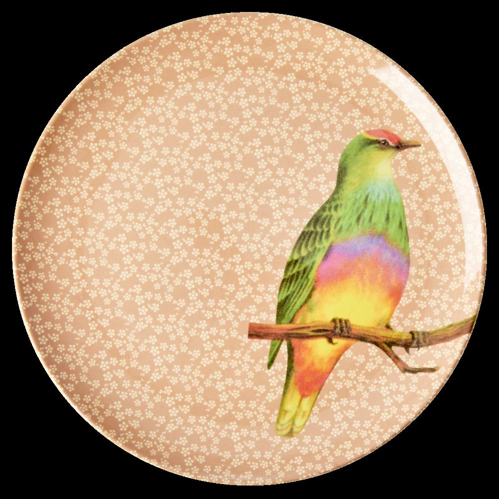 RICE Melamin Teller Vintage Bird