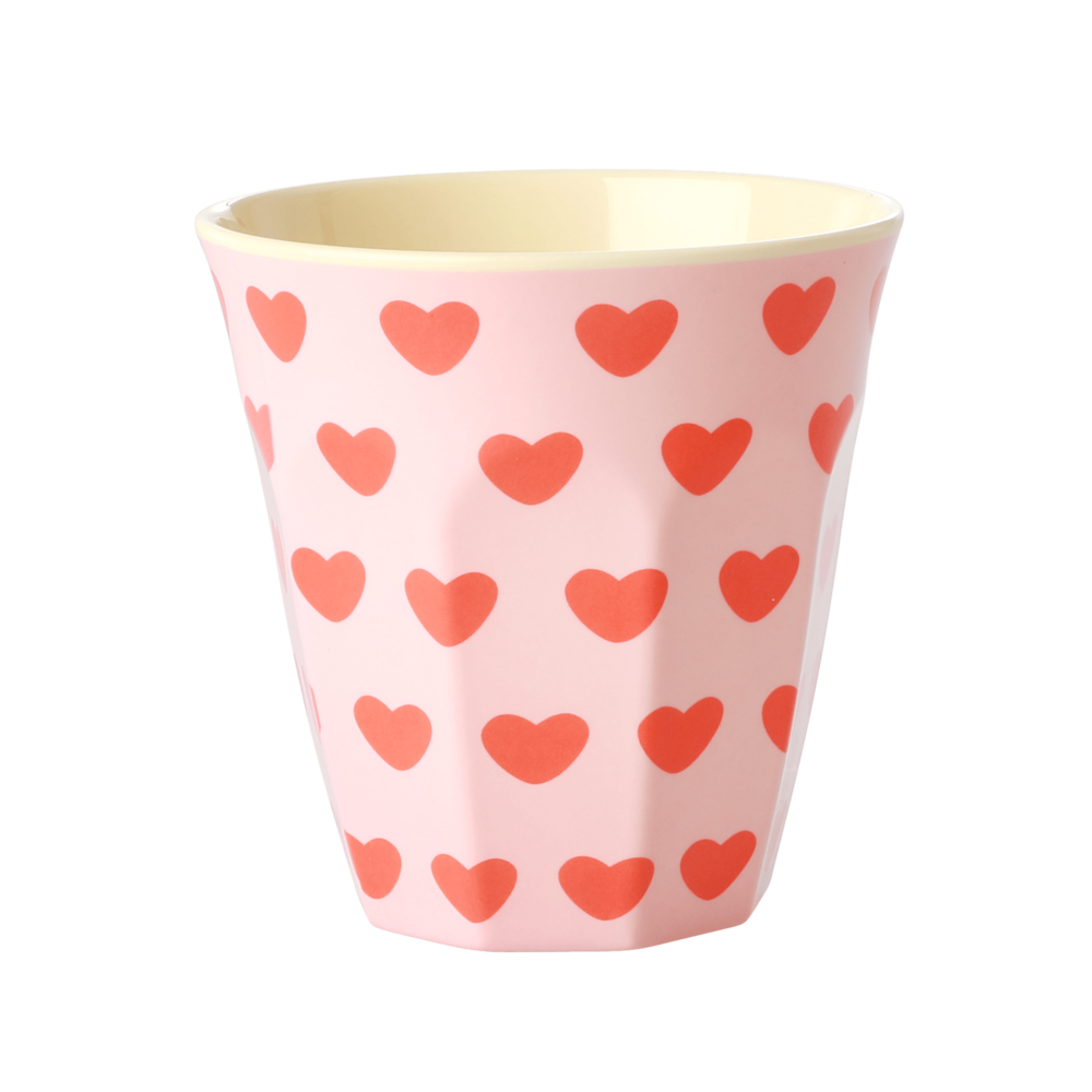 RICE Melamin Becher Medium Sweet Hearts