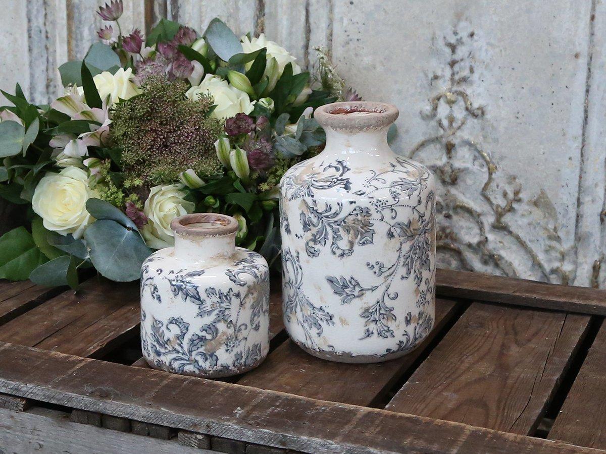Impressionen zu Chic Antique Melun Vase mit französchem Muster, Bild 1