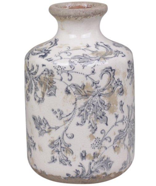 Chic Antique Melun Vase mit französchem Muster