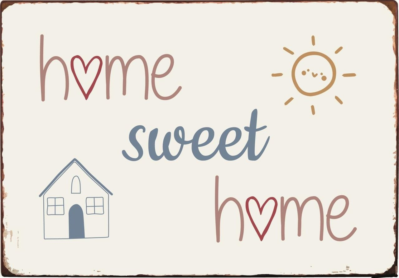 Ib Laursen Metallschild Home Sweet Home