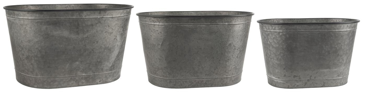 Ib Laursen Pflanzkübel 3er Set oval ohne Henkel