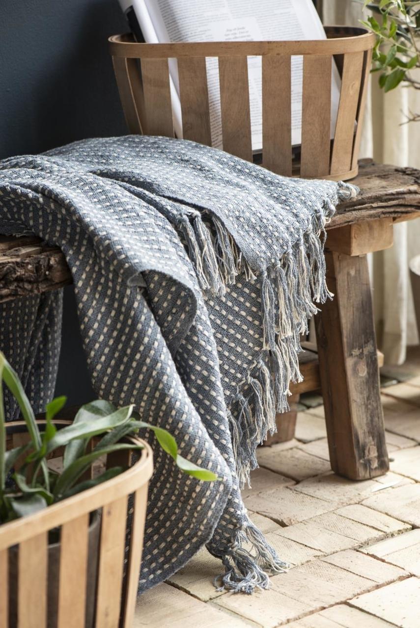 Impressionen zu Ib Laursen Plaid Decke mit Eckmuster, Bild 3
