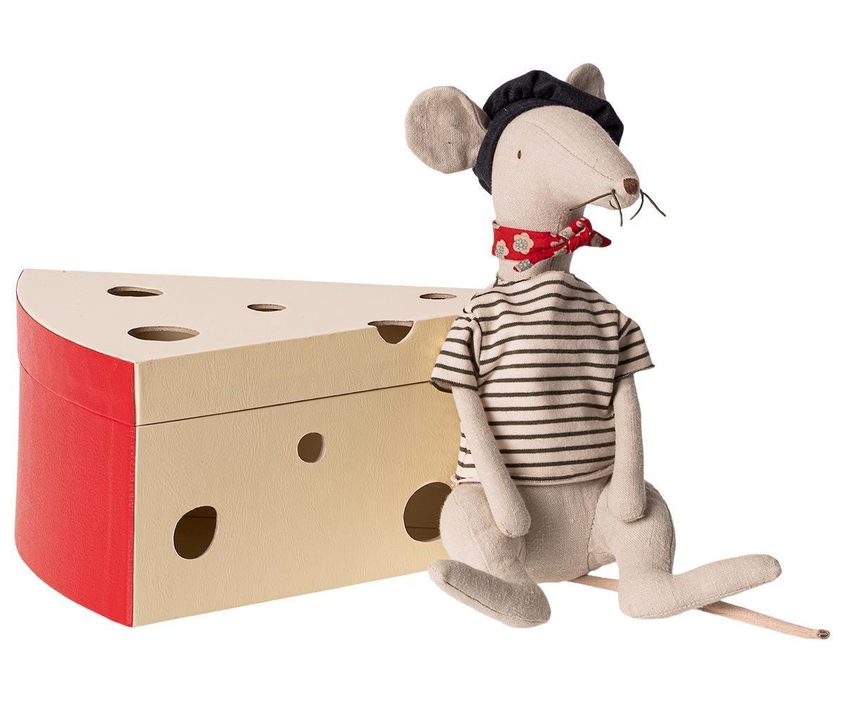 Maileg Ratte in Käsebox
