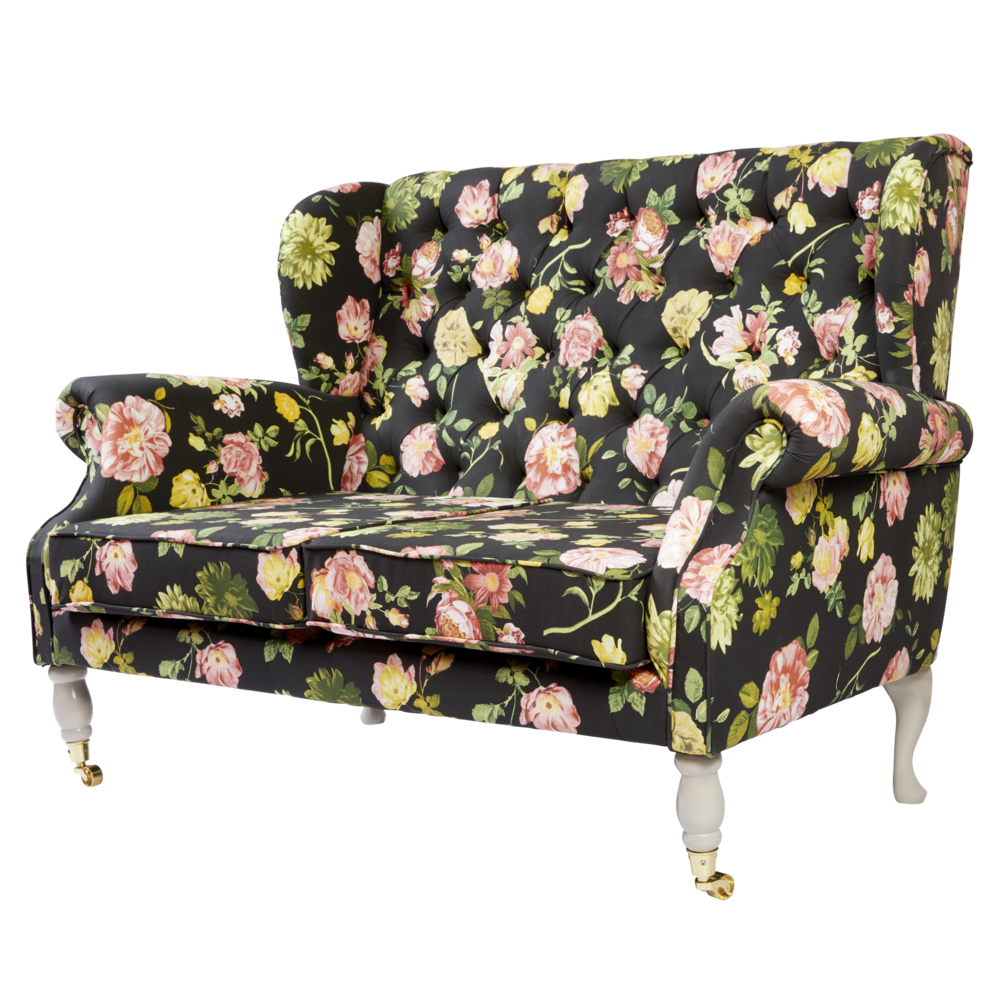 RICE 2er Sofa Dark Rose