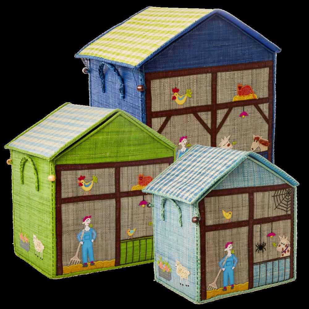 RICE Aufbewahrungskörbe für Kinder Bauernhof