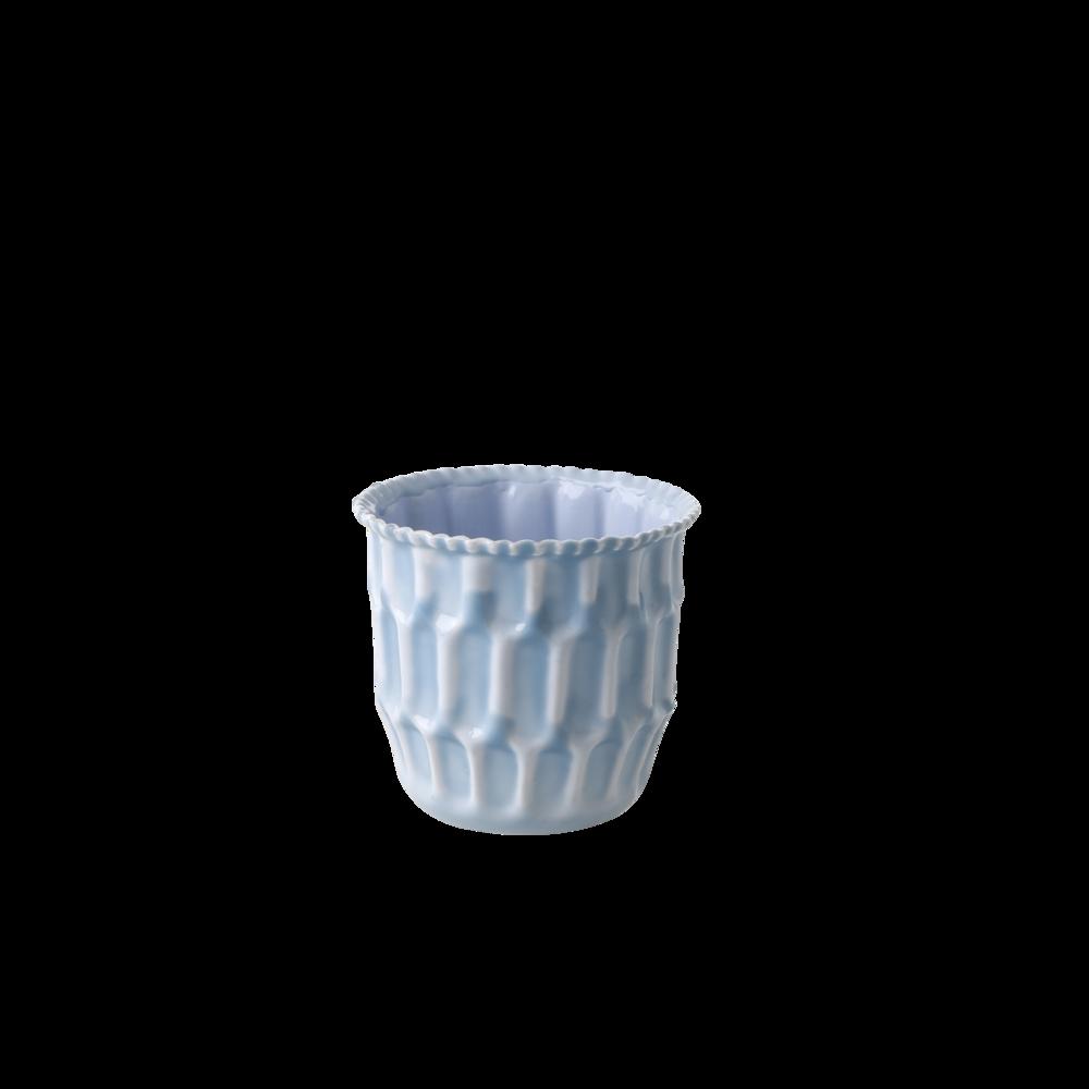 RICE Blumentopf blau