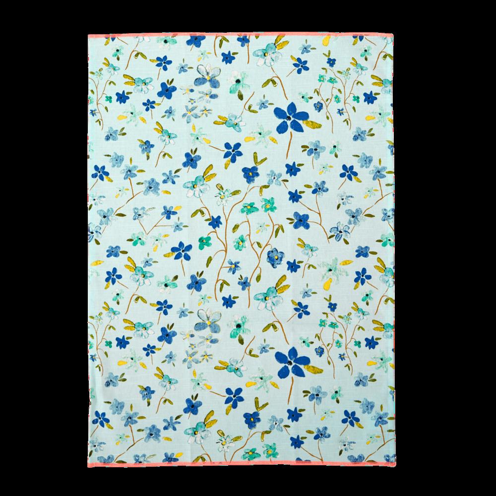 RICE Geschirrhandtuch Blue Floral