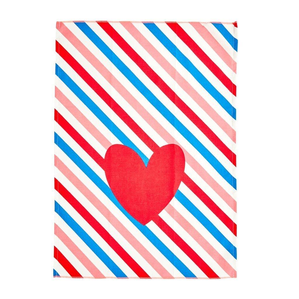 RICE Geschirrhandtuch Candy Stripes