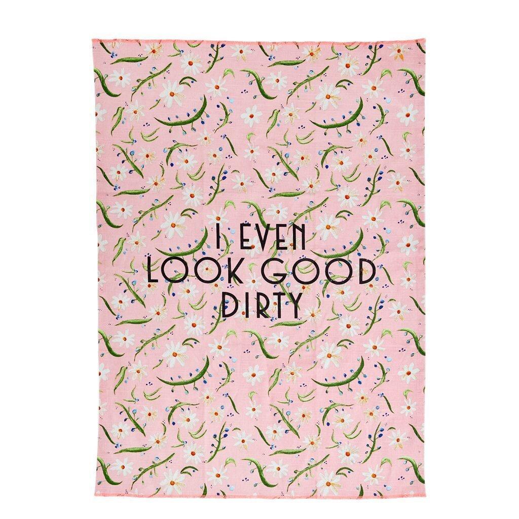 RICE Geschirrhandtuch Daisy Print
