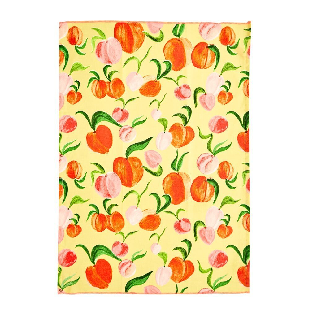 RICE Geschirrhandtuch Peach
