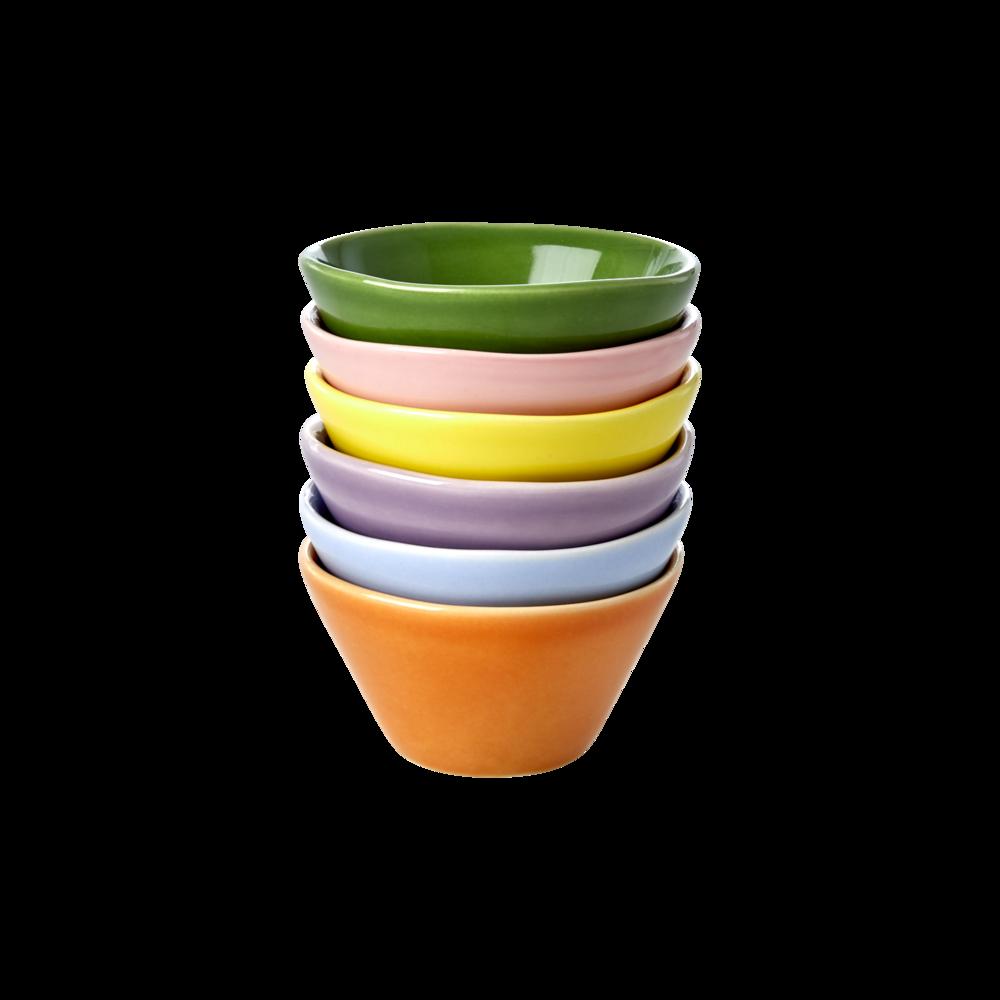 RICE Keramik Dip Schälchen 6er Set