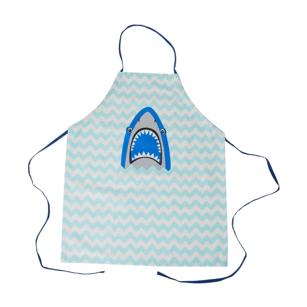 RICE Kinder Schürze Shark Print aus Baumwolle