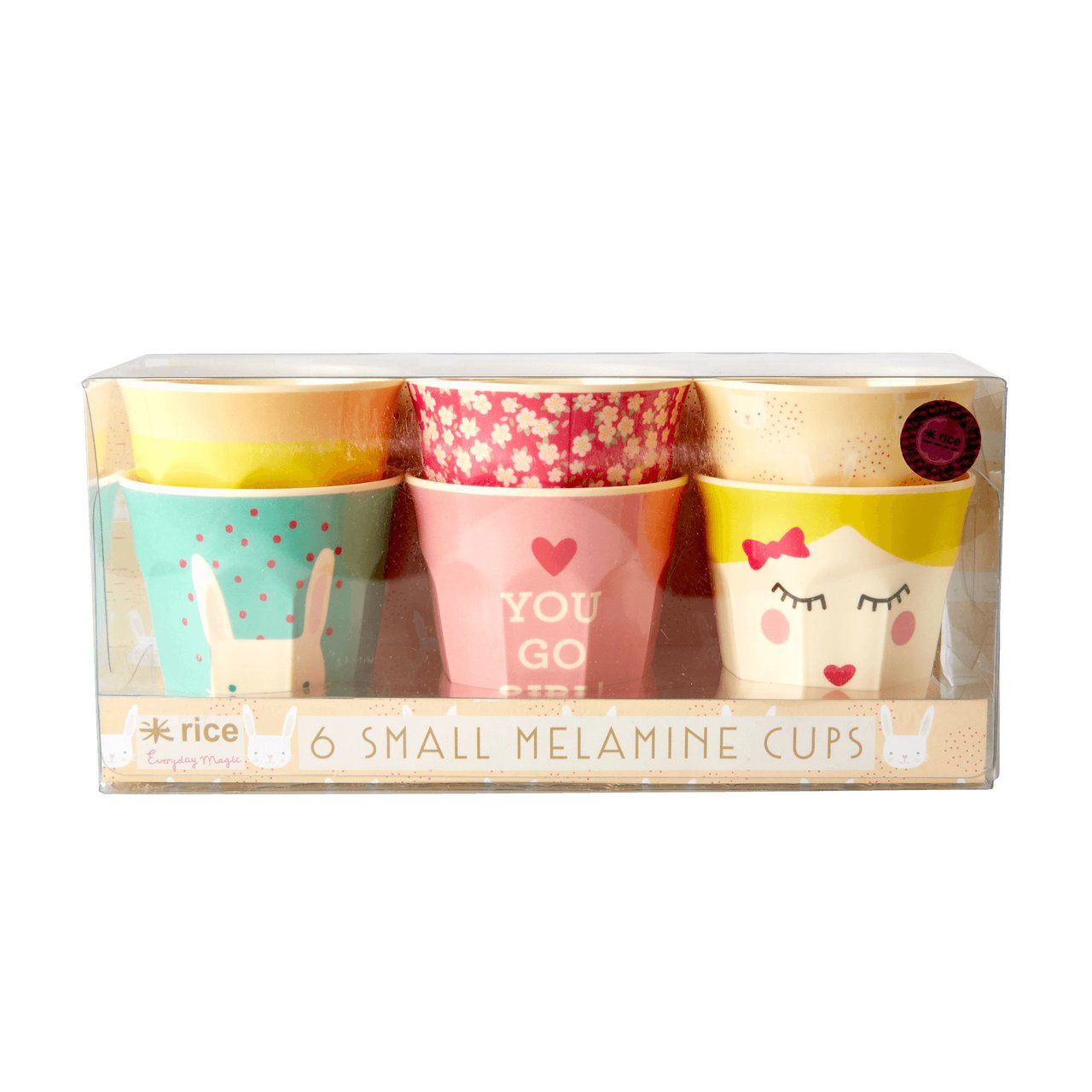 RICE Kinderbecher Set Rabbit Print
