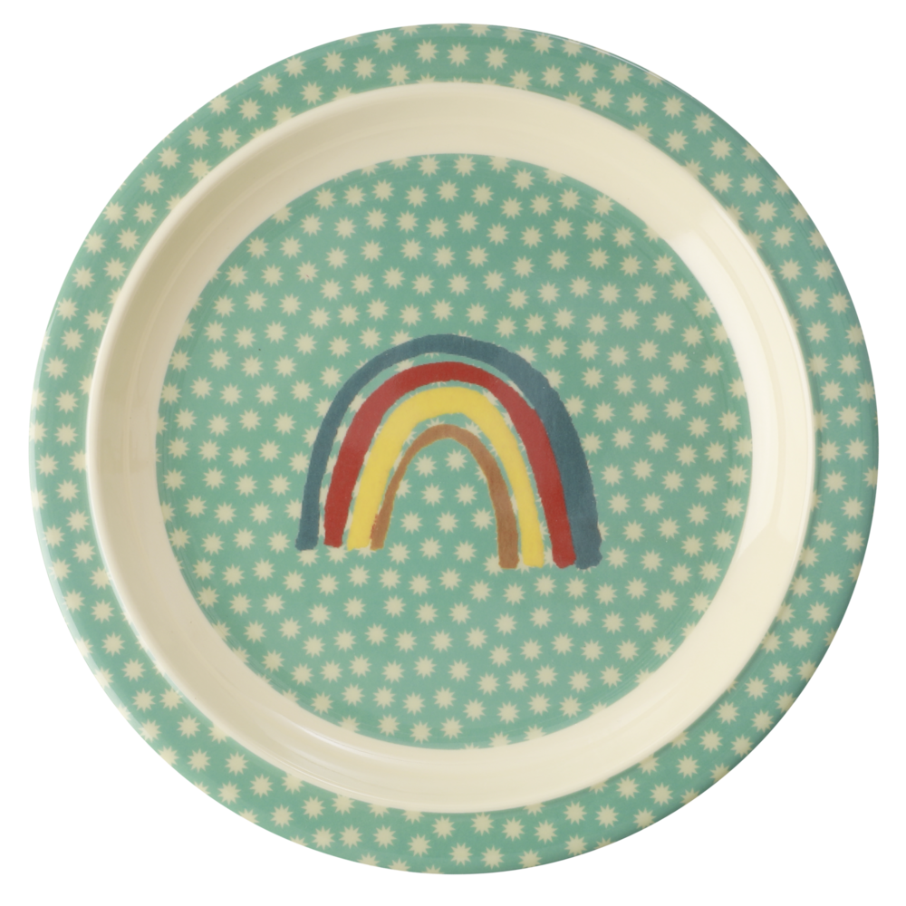 RICE Kinderteller Rainbow and Stars