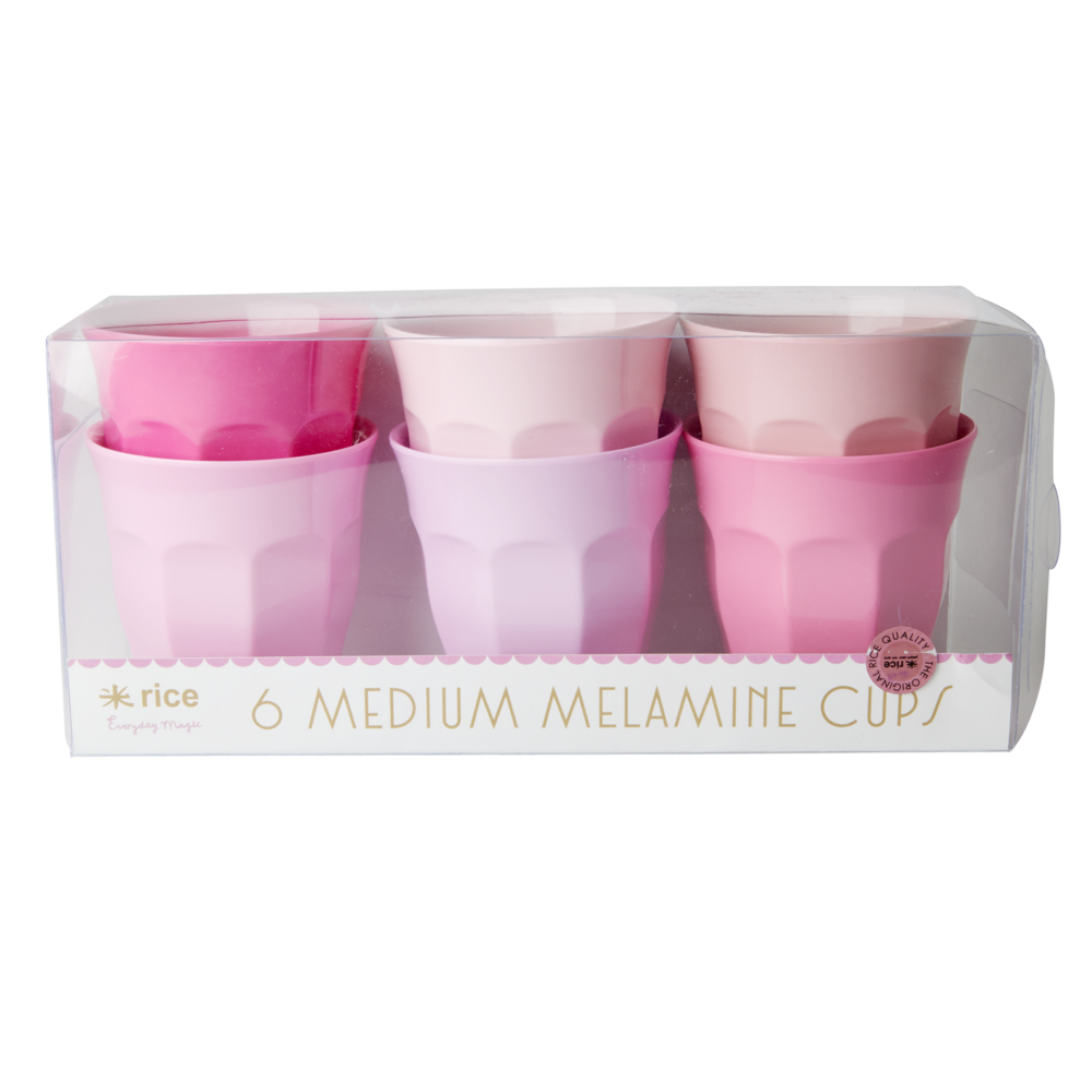 Rice Melamin Becher Medium 50 Shades of Pink 6er