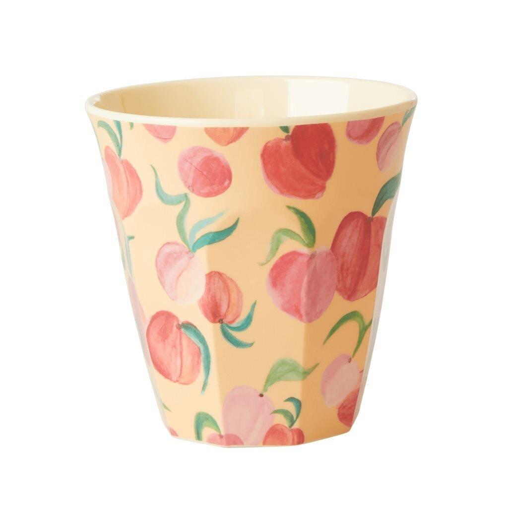 RICE Melamin Becher Medium Peach