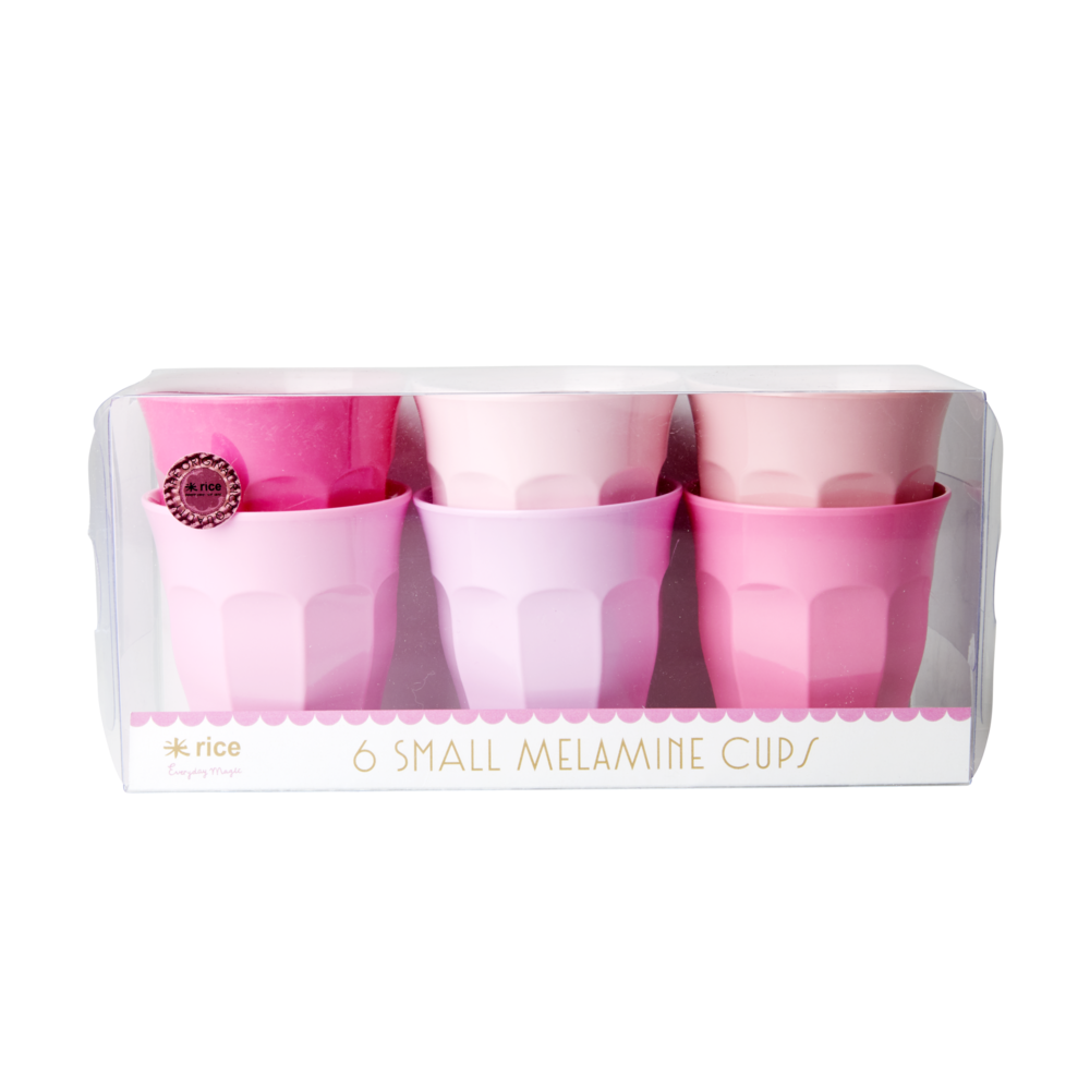 RICE Melamin Becher Small 50 Shades of Pink 6er