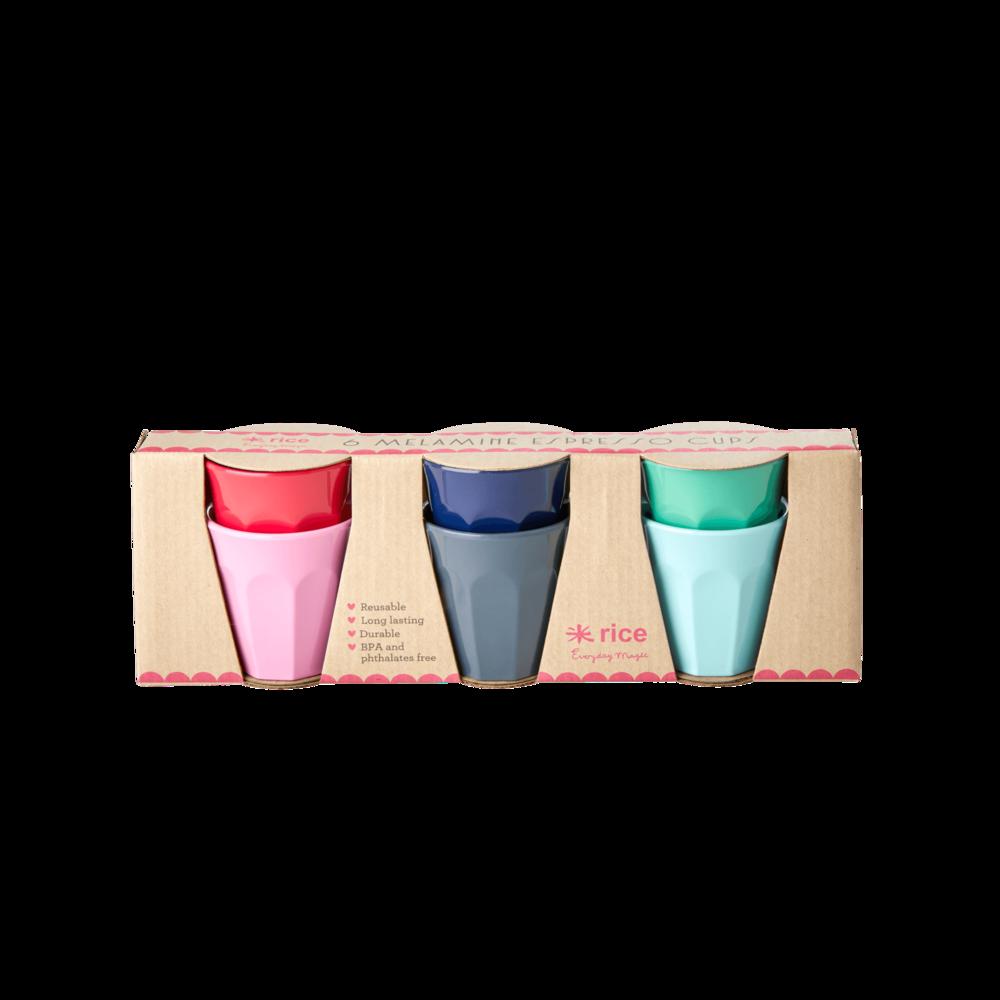 RICE Melamin Espresso Becher Believe in Red Lipstick 6er